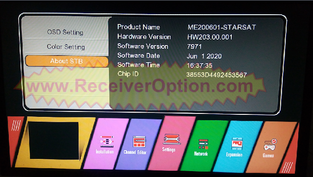 STARSAT GX6605S HW203.00.001 NEW SOFTWARE WITH U38 MENU