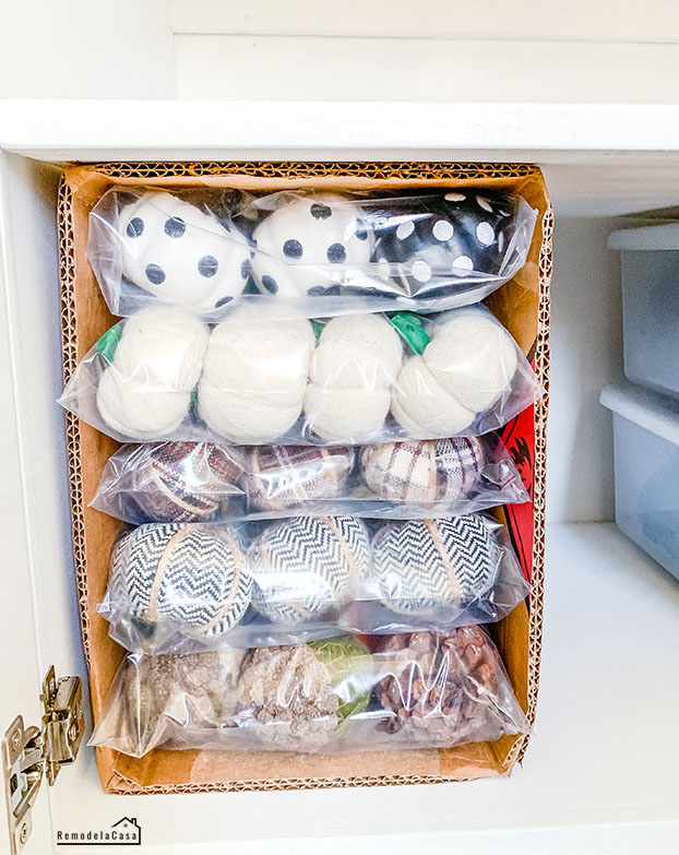 How to store Fall decor