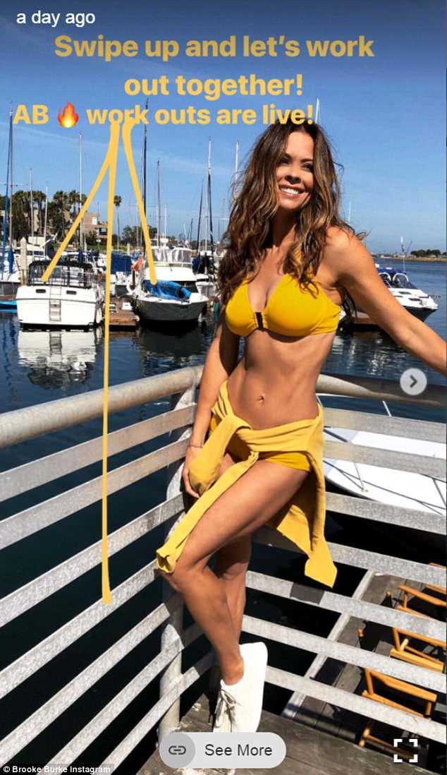 Brooke burke yellow bikini