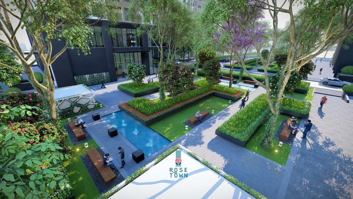 Tiện ích nội khu của dự án Rose Town 79 Ngọc Hồi