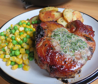 Herbed Pork Chops with Garlic Butter