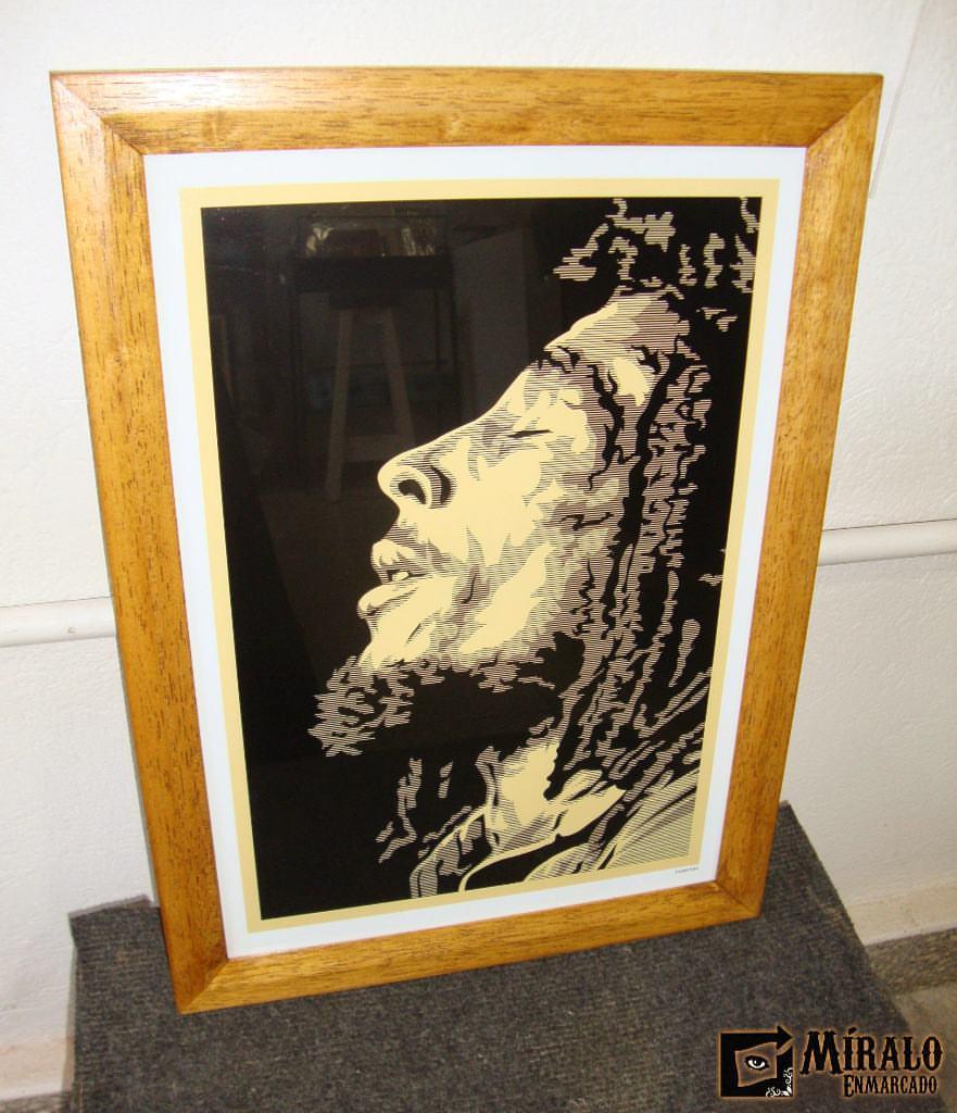 Enmarcado de lámina - Bob Marley - Marco chato con lustre a mano ...