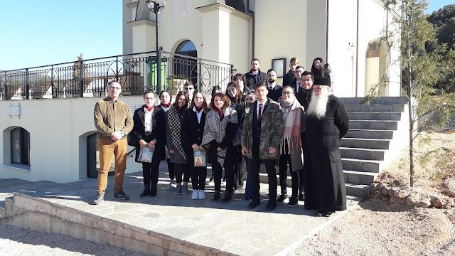 Στον Άγιο Λουκά ξεναγήθηκαν από τον Μητροπολίτη Αργολίδας οι μαθητές της Τουριστικής Σχολής Άργους