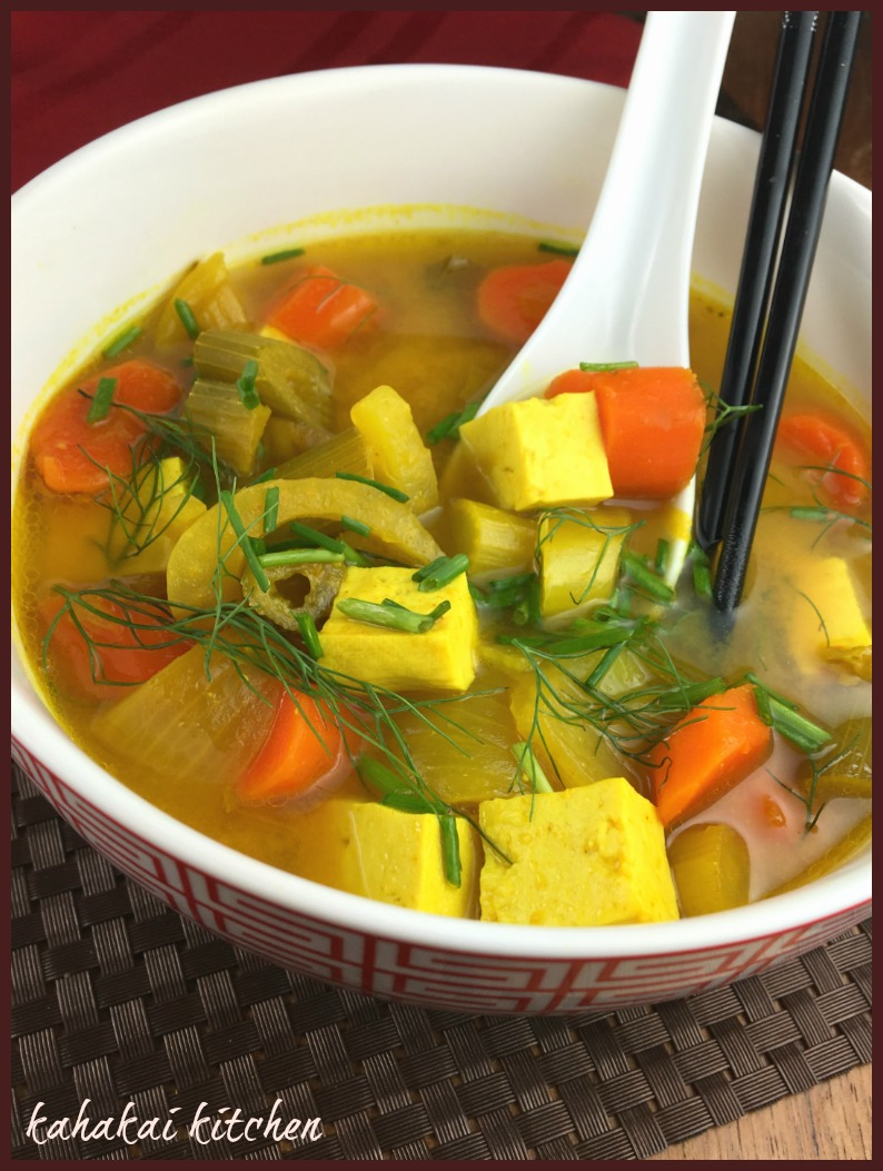 Tumeric Miso Soup with Tofu and Chunky Veggies for Souper (Soup, Salad ...
