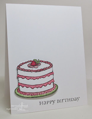 Our Daily Bread designs Cake Single and All Occasion Sentiments, Card Designer Angie Crockett