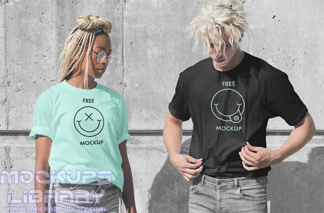 model t shirt mockup free