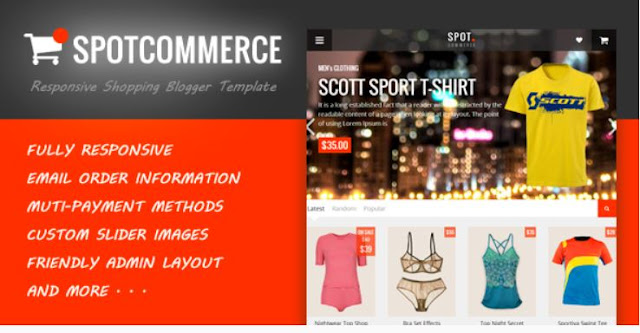 Spot Commerce Free Blogger Template Download