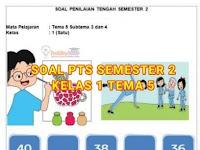 Soal PTS Tema 5 Kelas 1 Semester 2 Sub Tema 3 dan 4 Kurikulum 2013 dan Kunci Jawaban Terbaru
