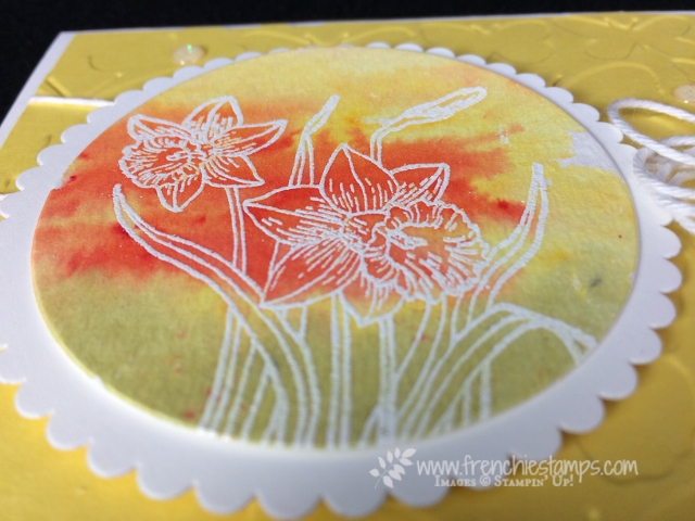Brusho, You're Inspiring, Stampin'Up!, Frenchie Stamps,