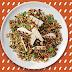 Curcan la grătar cu roșii uscate, rodie și orez mediteranean