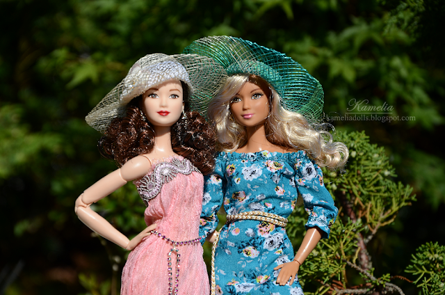 Handmade summer dress clothes for Barbie dolls