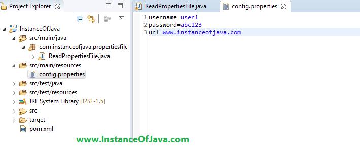 reading properties file in java
