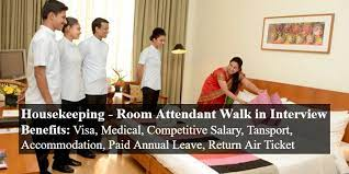 Room Attendant and Housekeeping Staff Required in Hotel Dubai, UAE