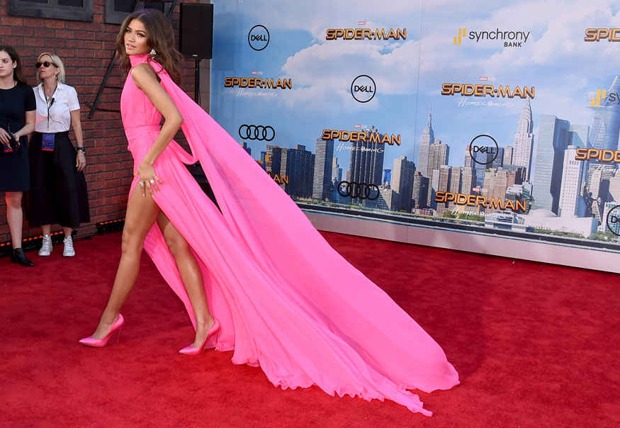 Actress Zendaya Premiere of Spider-Man: Homecoming at TCL Chinese Theatre