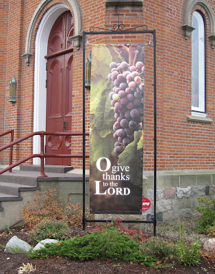 O give thanks for the Lord Banner | Banners.com