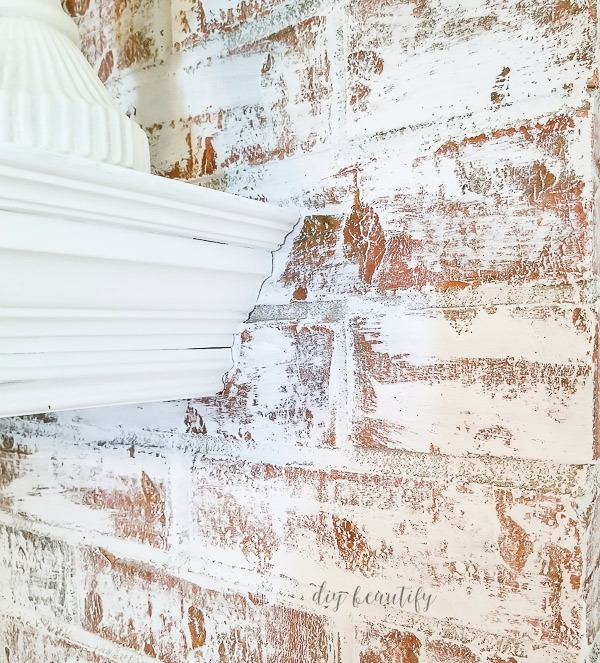 close up of painted fireplace | diybeautify.com