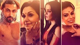 Celina Jaitly, lillete Dubey, Shree Ghatak and Azhar Khan in Seasons Greetings poster
