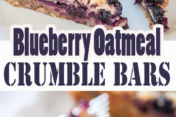 Blueberry Oatmeal Crumble Bars Recipes