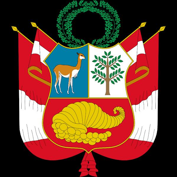 Logo Gambar Lambang Simbol Negara Peru PNG JPG ukuran 600 px