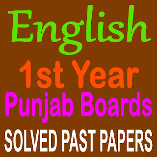English Old Papers Punjab Board Solved Question Answers Book I and Book III In PDF