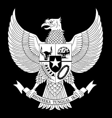 Logo Garuda Hitam Putih