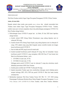 Press Release COVID-19 Tarakan 20 Juni 2020 - Tarakan Info