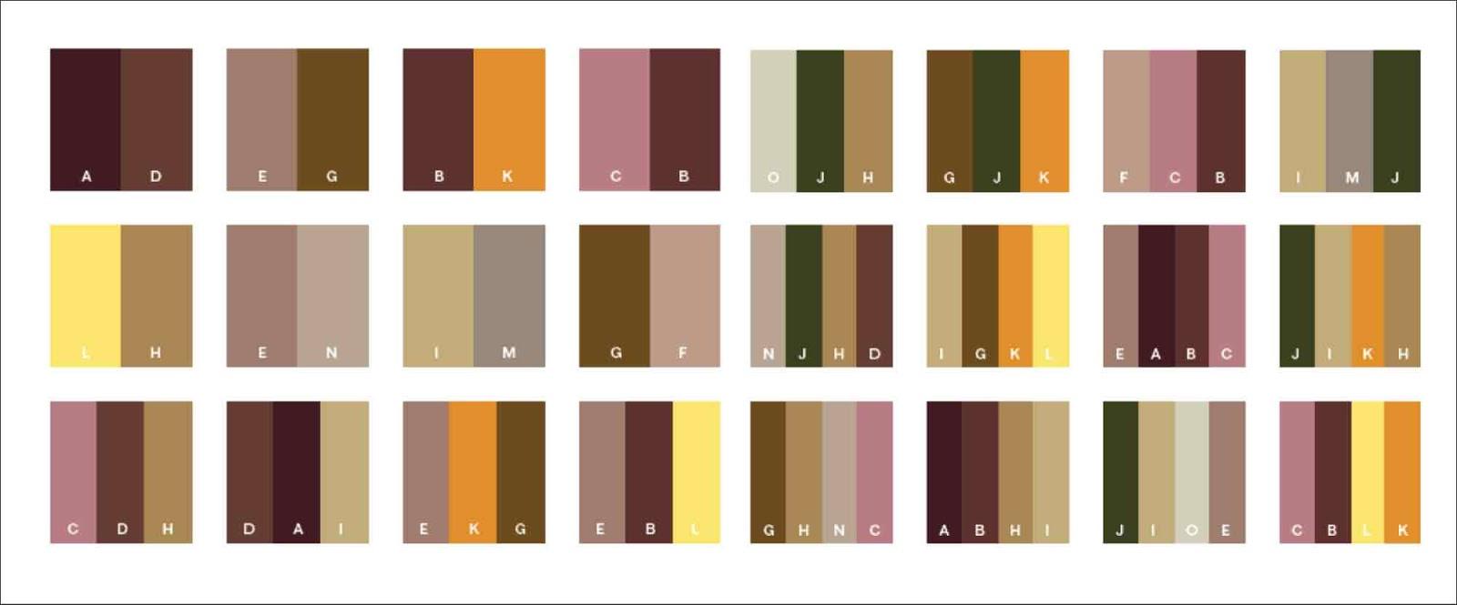 Cara Membuat Warna Cokelat Dengan Mudah Seni Budayaku Kombinasi warna coklat muda