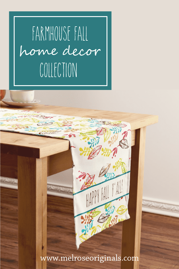 pinnable image with fall farmhouse table runner
