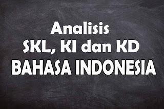 Analisis SKL KI dan KD Bahasa Indonesia SMA Tahun 2021