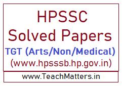 image: HPSSSB TGT Solved Papers - HPSSC Solved Papers @ TeachMatters