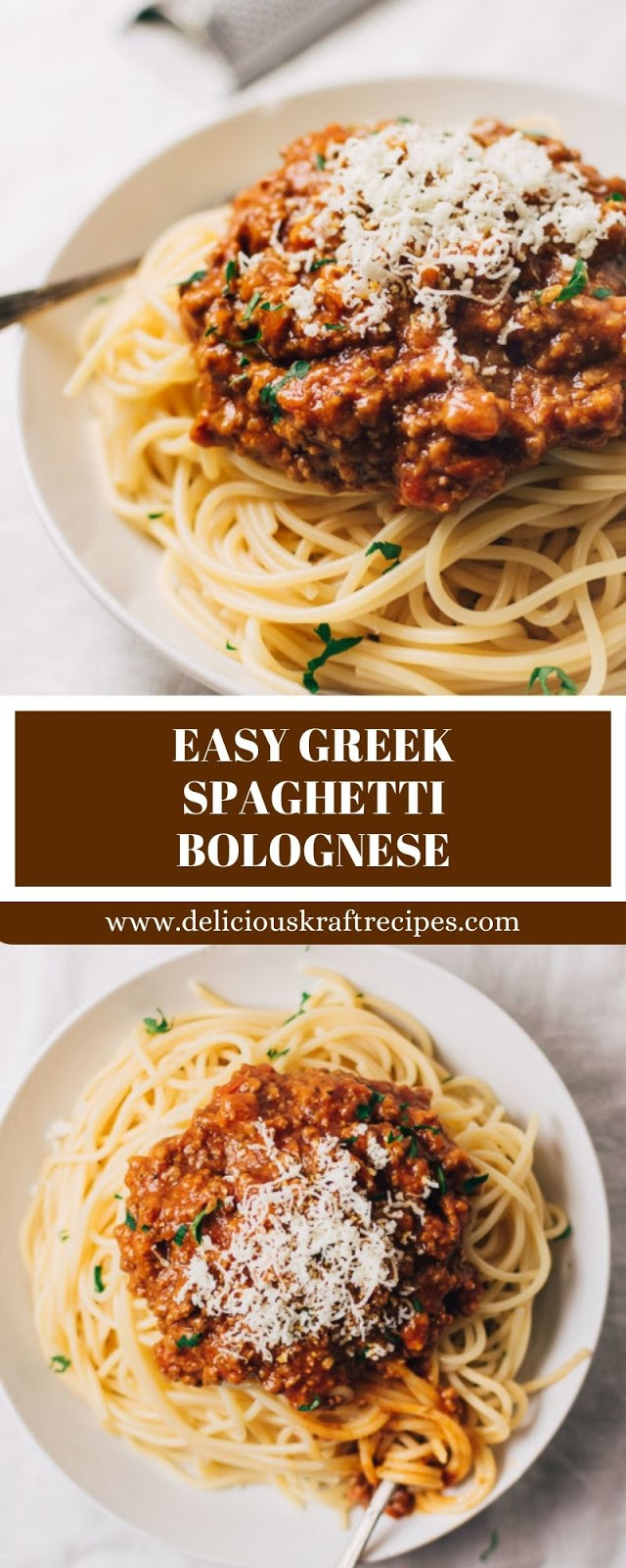 EASY GREEK SPAGHETTI BOLOGNESE