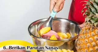 Berikan Parutan Nanas merupakan salah satu tips mudah mengolah daging qurban sebelum dimasak