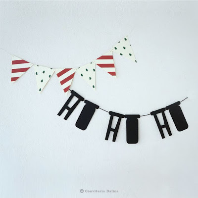 Bandeirola e Letreiro de Natal