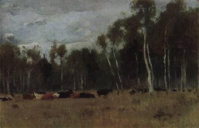 Исаак Ильич Левитан - Стадо. 1889-1890