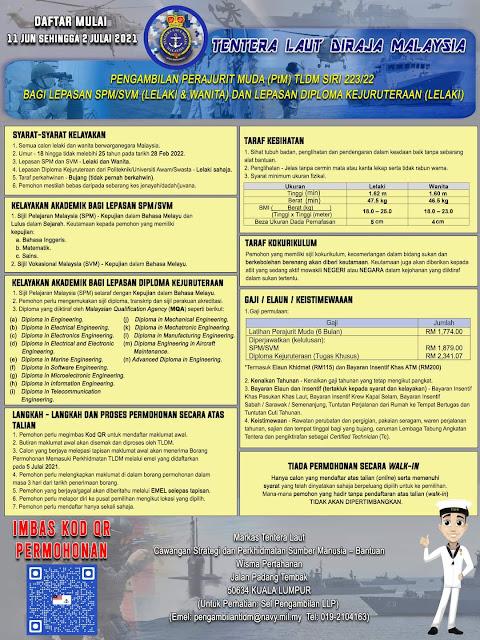 Pengambilan Perajurit Muda TLDM 2021 Lepasan SPM (Siri 223/22)