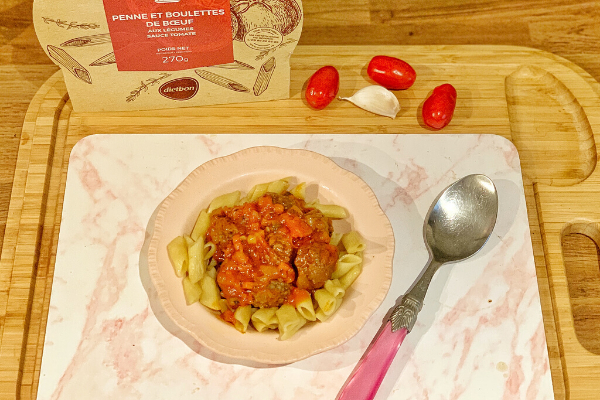 dietbon penne with beef meatballs