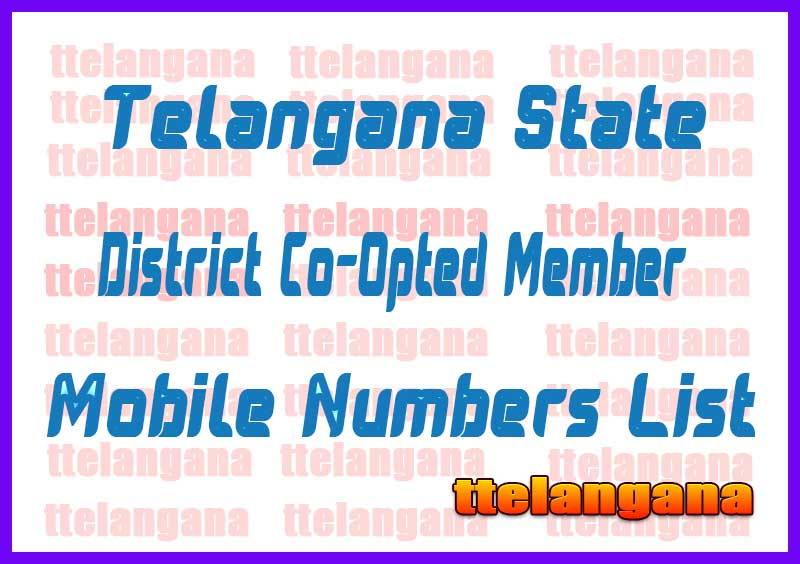 Nizamabad District Co-Opted Member Mobile No's List in Telangana State