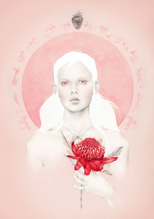 11-Strawberry-Emma-Leonard-Varying-degrees-of-Detail-in-Paintings-with-expressions-www-designstack-co