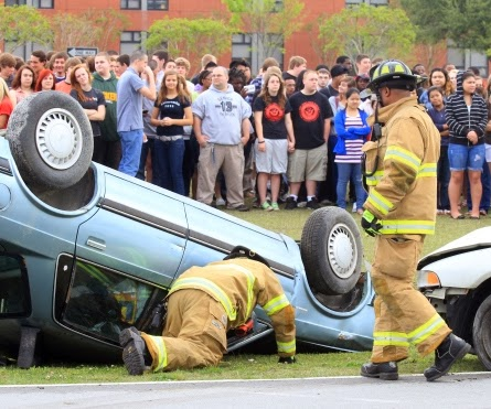 car wreck | drunk driving | drug prevention rally | red ribbon week