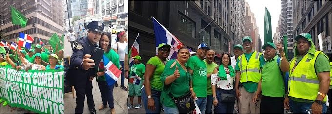 Faride encabeza Marcha Verde en Parada Dominicana de Nueva York y genera amplias simpatías