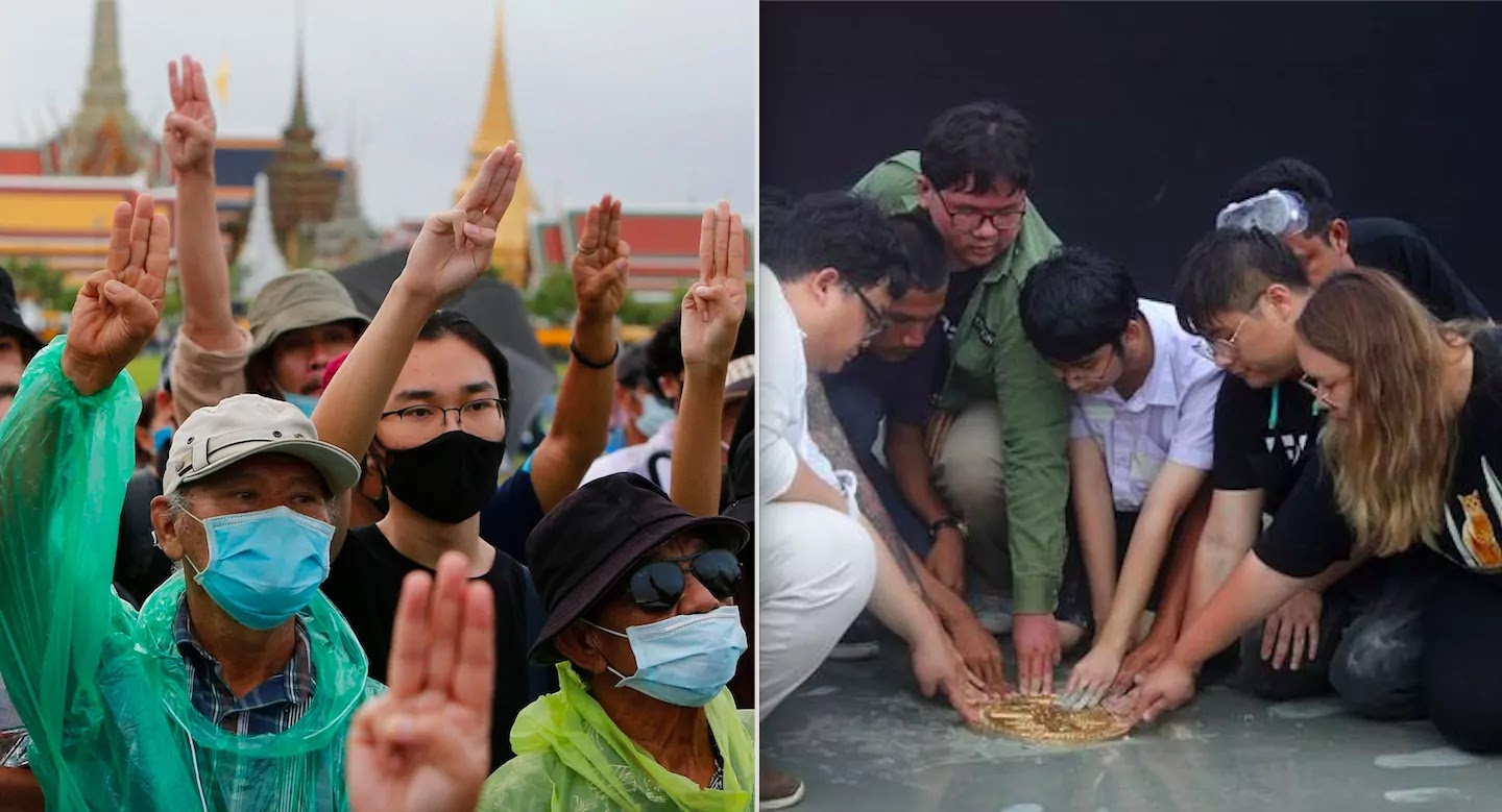 Thailand Protests: Activists Lay People's Plaque Challenging The Monarchy And Call For Democratic Reform