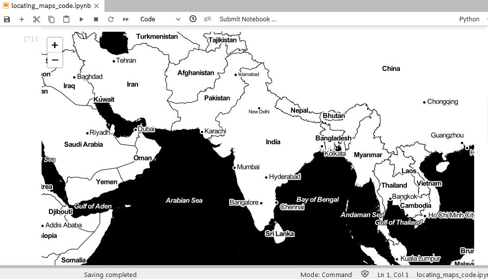 output of Stamen Toner Map