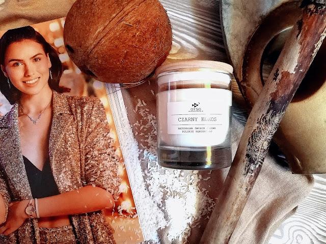 86. Tropikalna słodycz, czy kaszmirowe otulenie... Czarny kokos, Kaszmir Otso Handmade