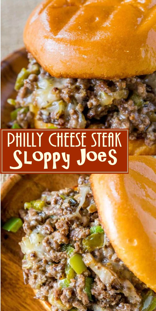 Philly Cheese Steak Sloppy Joes Recipe #dinnerrecipes