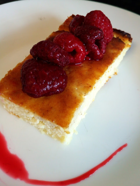 Ostkaka swedish cheesecake raspberries