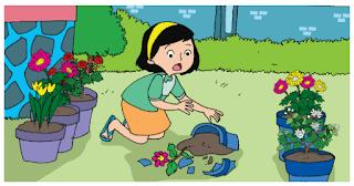 dayu memecahkan pot bunga kesayangan ibu www.simplenews.me