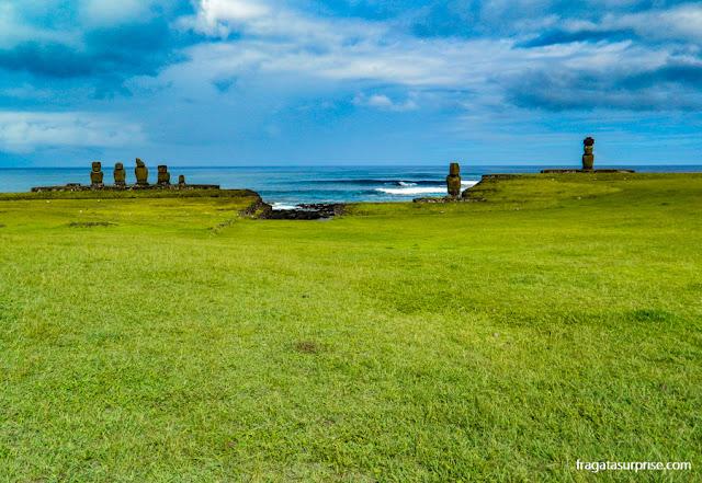 Ilha de Páscoa, moais do Ahu Tahai