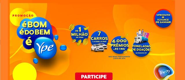 Participar Nova Promoção Ypê É Bom É Do Bem é Ypê 1 Milhão 7 Carros e Muitos Prêmios 70 Anos
