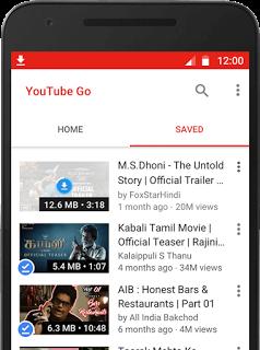 تطبيق YouTube Go من يوتيوب لمشاهدة الفيديو دون اتصال إنترنت