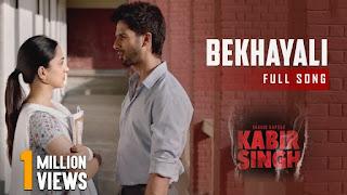 Bekhayali Lyrics - Shahid Kapoor - Kiara Advani